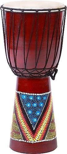Tambor Djembe 20cm Altura Madera Profesional Bongo Comercio Justo