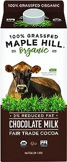 Maple Hill Chocolate Milk 100% Grassfed Organic 2% Homogenized Ultra-pasteurized, 64 Oz