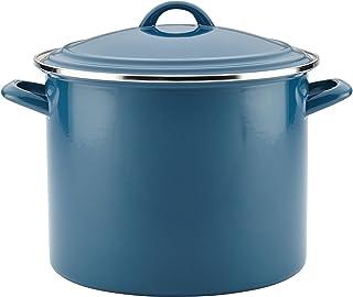 Ayesha Curry 46952 Enamel on Steel Stock Pot/Stockpot with Lid - 12 Quart, Blue