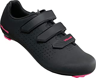 Vibrelli Womens Peloton Cycling Shoes - Indoor Spin Exercise Road Bike Shoes - Compatible with All Cleats - Look Delta, Shimano SPD, ARC - Ladies Cycle Shoes - Cleats Not Included