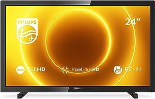 Philips 24PFS5505/12 24-inch LED-tv (Full HD, Pixel Plus HD, full-range luidspreker, 2 x HDMI, VGA, USB) zwart glanzend [m...