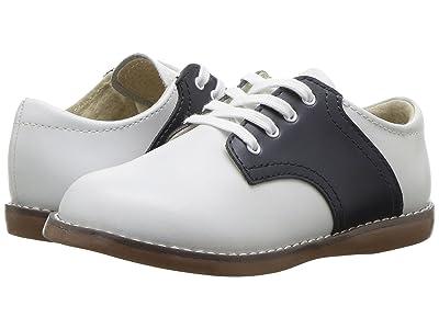 FootMates Cheer 3 (Infant/Toddler/Little Kid) (White/Navy) Kids Shoes