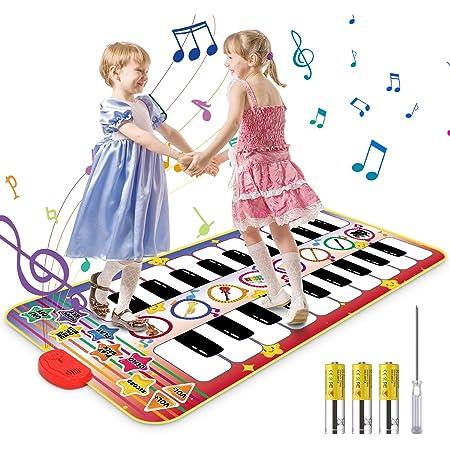 Vimzone Piano Tapis De Musique, Tapis De Jeu De Piano pour Enfants Play Clavier Tapis De Musique Tapis De Danse Drôle Jouets De Musique Éducatifs pour Les Tout-Petits Bébés Garçons Filles Cadeaux