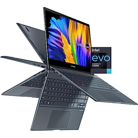 "ASUS ZenBook Flip 13 Ultra Slim Convertible Laptop, 13.3"" OLED FHD Touch Display, Intel Core i7-1165G7 Processor, Intel Iris Xe Graphics, 16GB RAM, 512GB SSD, Windows 10 Pro, Pine Grey, UX363EA-XH71T"