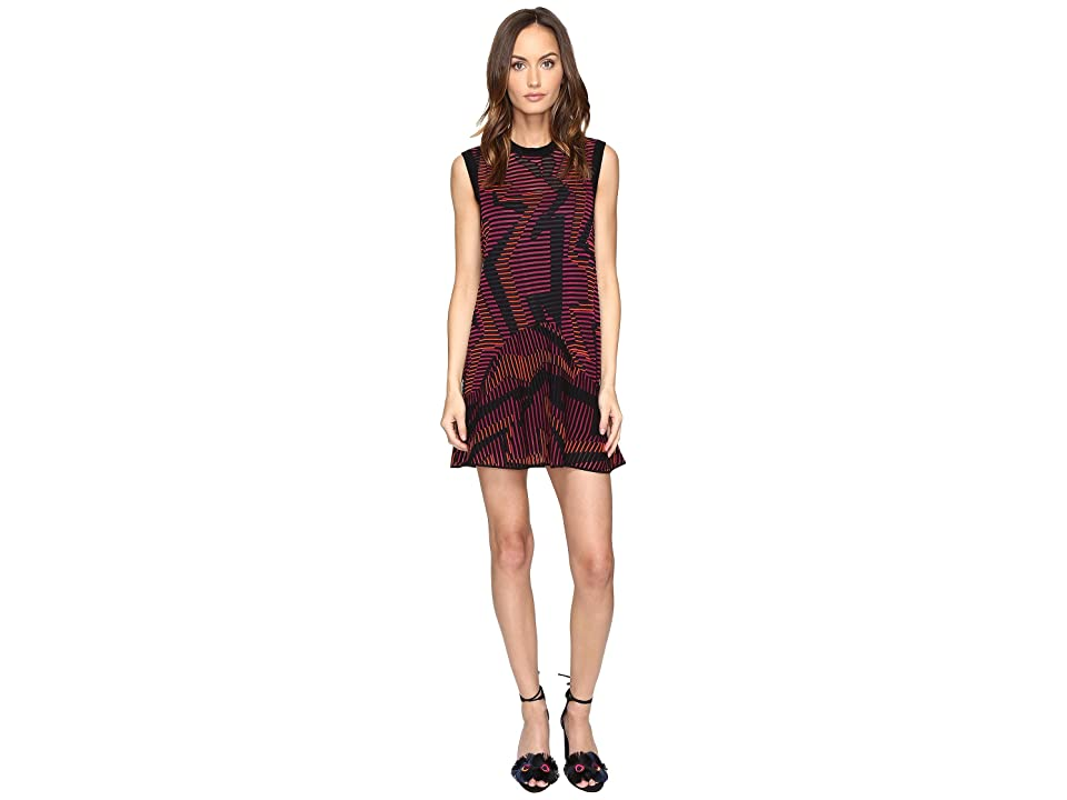 M Missoni Colorful Geo Knit Dress (Fuchsia) Women