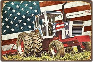 Radiancy Inc el tractor hierro pintura letrero de pared vintage decorativo póster placa de advertencia marea decorativa para habitación, cafetería, bar, club, jardín estacionamiento