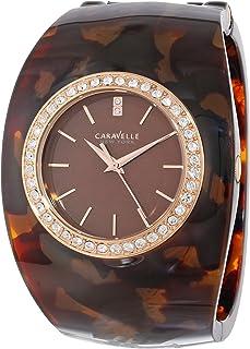 Caravelle New York Women's 44L140 Analog Display Japanese Quartz Brown Watch