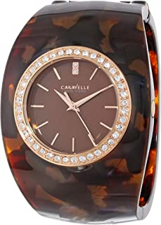 Caravelle New York Women's 44L140 Analog Display Japanese Quartz Brown Watch