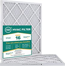 Green Label HVAC Air Filter 20x20x1, AC Furnace Air Ultra Cleaning Filter MERV 16 - Pack of 2