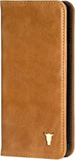 TORRO Premium Leather Cell Phone case Compatible with iPhone XR, Stand Case for Apple iPhone XR (Handmade, Tan USA Leather)