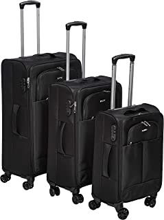 Ashare Softside spinner luggage set of 3pcs with 3 digit number Lock