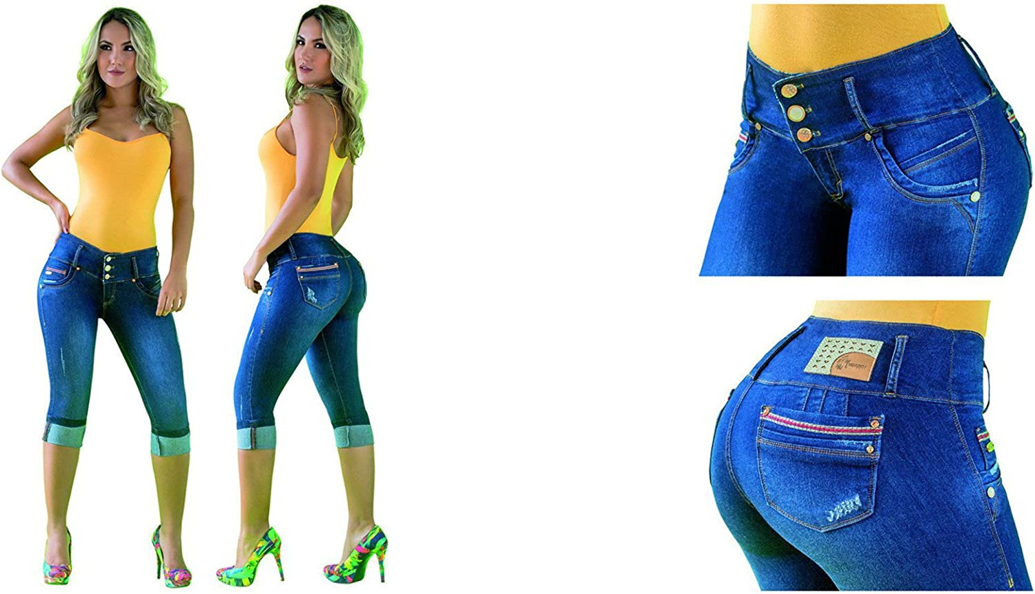 100% Authentic Colombian Push Up Jean 17131by Muranos