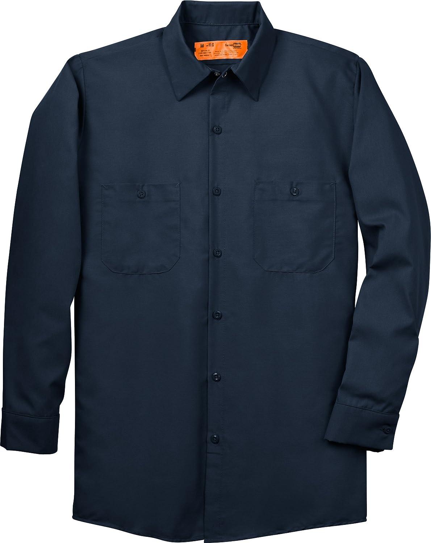 CornerStone - Long Sleeve Industrial Work Shirt. SP14 - Large Regular - Navy