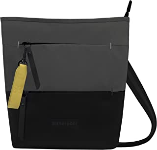 Sadie Crossbody, and Shoulder bag for Women, made from Recycled Nylon fabric with RFID protection (Flint)