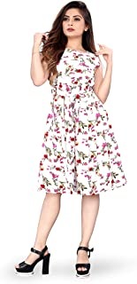 New Ethical Fashion Printed Knee Length Dress for Women_F37