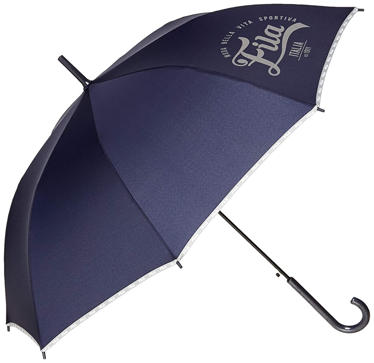 早く冷蔵するもろい[フィラ] FILA キッズ 無地パイピング 長傘 58㎝ 子供 女児 男児 傘 3色