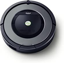 iRobot Roomba 865 - Robot Aspirador Óptimo para Pelo de Mascotas, Potencia Succión 5 Veces Superior y Cepillos de Goma Antienredos, Sensores Dirt Detect, para Suelos Duros y Alfombras, Programable