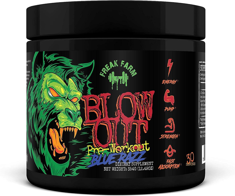 Blowout Pre-Workout Popularity Product Blue Razz Long Lasting Energy Pump Focus