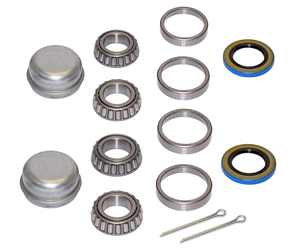 Pair Of Trailer Bearing Repair Kits For 1-1/16 Inch Straight Spindles