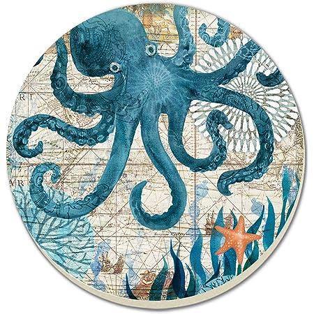 Altered coaster Multimedia coaster. Octopus coaster