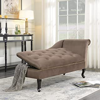 Amazon.com: Brown - Chaise Lounges / Living Room Furniture: Home ...