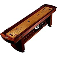 Barrington 9 Ft. Classic Wood Shuffleboard Table with Wine Rack