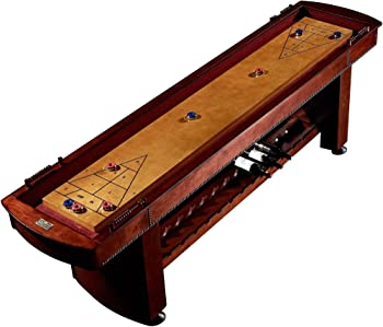 Barrington 9 Ft. Classic Wood Shuffleboard Table with Wine Rack