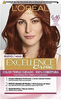 L'Oréal Paris Excellence Creme Tinte Tono 6.46 Rubio Oscuro Cobrizo Caoba - 50 ml