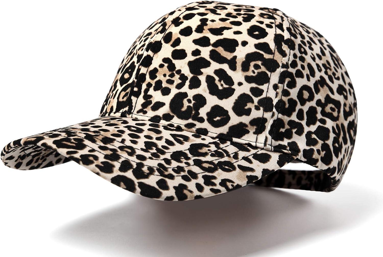 Nabegum Womens Adjustable Leopard Cheetah Print Organic Cotton Dad Hat Baseball Cap