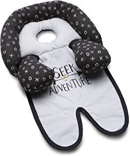 Boppy Organic Fabric Head and Neck Support, Adventure, Black and White