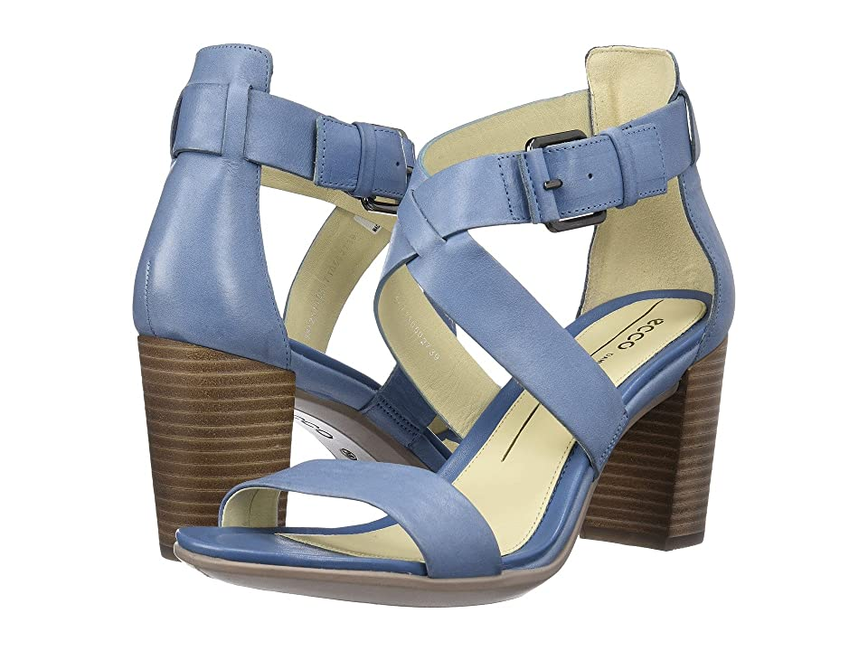 ECCO Shape 65 Block Sandal (Retro Blue) High Heels
