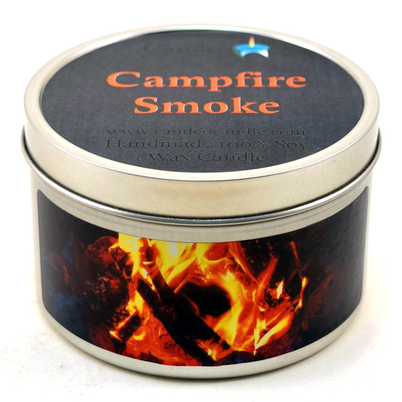野ウサギネックレット気味の悪い(180ml) - Campfire Smoke Super Scented Soy Candle Tin (180ml)