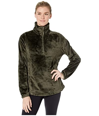 The North Face Osito 1/4 Zip Pullover (New Taupe Green) Women