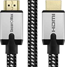 SecurOMax HDMI Cable (4K 60Hz, HDMI 2.0, 18Gbps) with Braided Cord, 6 Feet