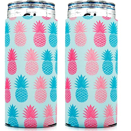6pcs Bag Flags Pattern Gift Skinny Cooler Sleeves Beer Can Party Home Decoration