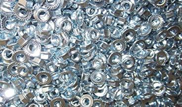 M7-1.0 Metric Serrated Flange Lock Nut Steel Zinc Plated 50pc - Durable and Sturdy, Good Holding Power in Different Materials
