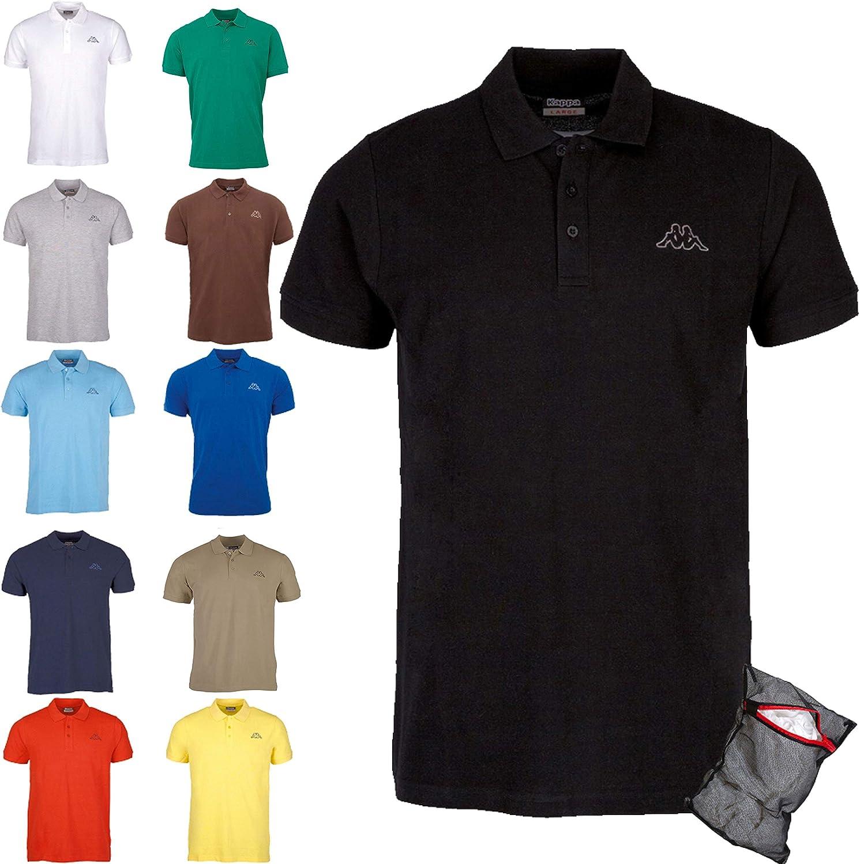 Kappa Polo Clásico Edición ZiATEC con práctica Bolsa de lavandería   Camisa de Golf básica de Mangas Cortas, Mezclas en Muchos Colores