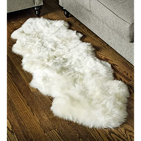 Amazon Com Waysoft Genuine New Zealand Sheepskin Rug Luxuxry Fur Rug For Bedroom Fluffy Rug For Living Room Single Pelt Natural Furniture Decor