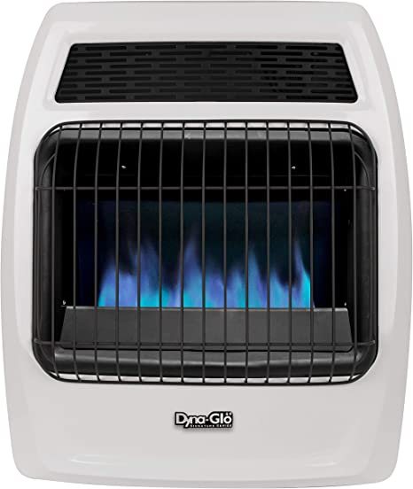 Dyna-Glo BFSS20NGT-2N 20,000 BTU Natural Gas Blue Flame Thermostatic Vent Free Wall Heater, White: image