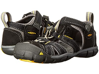 Keen Kids Seacamp II (Toddler/Little Kid) (Black/Yellow) Boys Shoes