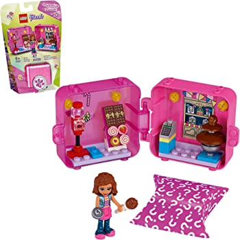 LEGO Friends Olivia's Shopping Play Cube 41407 Building Kit, Candy Store Fun Toy That Includes Candy Store Mini-Doll, New 2020 (47 Pieces)