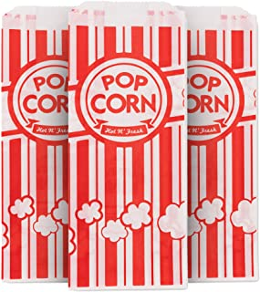 Bolsa de palomitas de maíz, color rojo y blanco, bolsas de