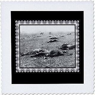 3dRose qs_160769_1 The Harvest of Death Battlefield of Gettysburg, July 1863 Taken by T H O Sullivan Civil War Photo Quilt...