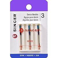 Deals on 3-CT Singer 2108 Denim Machine Needles Size 100/16