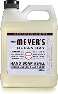 Mrs. Meyer's Clean Day Liquid Hand Soap Refill, Cruelty Free and Biodegradable Hand Wash Made with Essential Oils, Lavende...