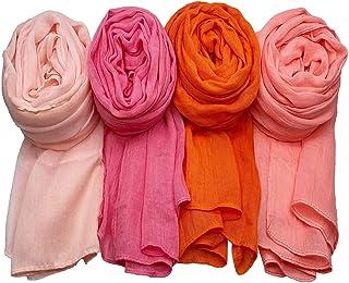 Sponsored Ad - WANBAO 4 Pcs Women Scarves Shawl Keep Warm Scarf Wrap Scarves Fashion Shawls.