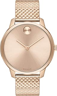 Movado Bold, Gold Steel Case, Gold Dial, Steel Mesh Bracelet, Women, 3600596