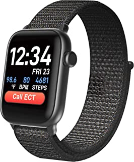 CoCo Smartwatch for Seniors Men and Women, Health Monitor, Heart Rate, Body Temperature, Blood Oxygen Monitoring, Medical Alert, Personal Emergency Response System, iOS and Android BT1