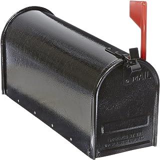 "Tapco 034-00115 Steel Economy Mailbox, 19"" Length x 7"" Width x 9"" Height, Black"