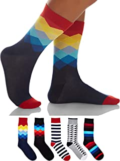 Sockyfy Socks for Men - Colorful and Fun Patterned Premium Dress Socks in Gift Box, Free Size Set of 5 Ramadan Gifts Eid G...